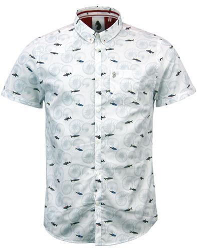 luke 1977 suchart retro 70s neon fish fossil shirt