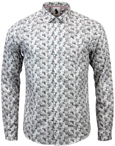 luke 1977 two eyes retro 60s mod floral bird shirt