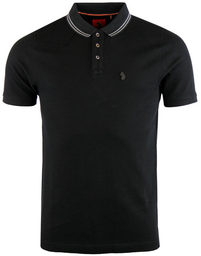 luke 1977 will honey retro mod waffle polo black