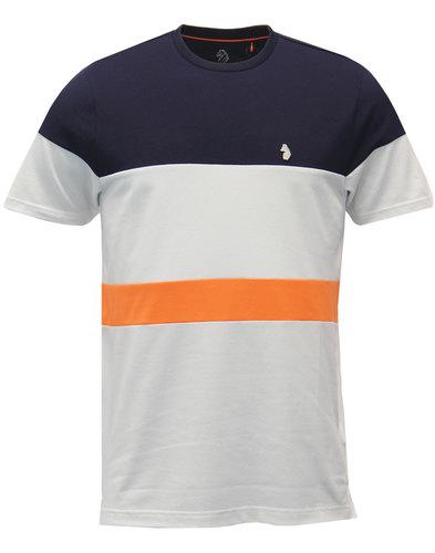 luke 1977 retro indie stripe panel pique t-shirt