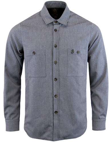 luke 1977 pal mal mod made in england worker shirt