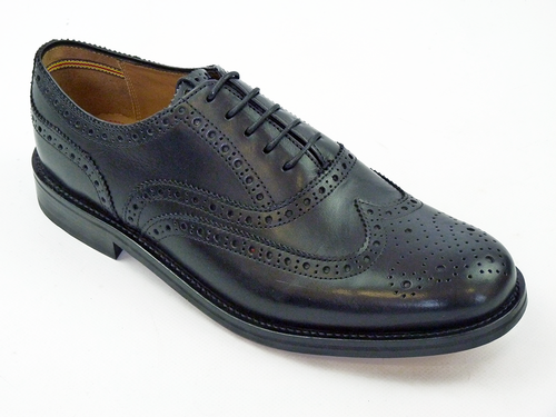 LUKE 1977 RETRO INDIE BRITISH VIRGIN BROGUES BLACK