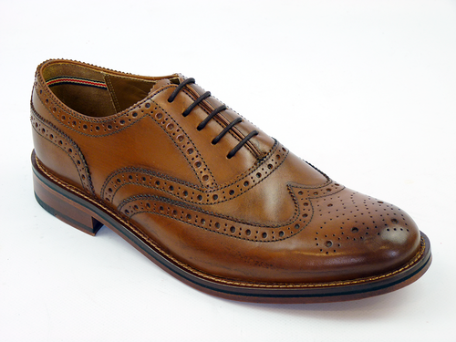 LUKE 1977 RETRO INDIE BRITISH VIRGIN BROGUES TAN