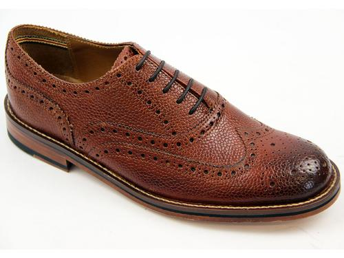 LUKE 1977 RETRO MOD BROGUES BRITISH VIRGIN CHERRY