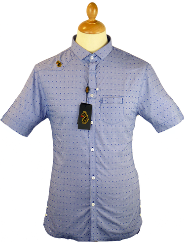 Top Jolly LUKE 1977 Retro Mod Micro Gingham Shirt