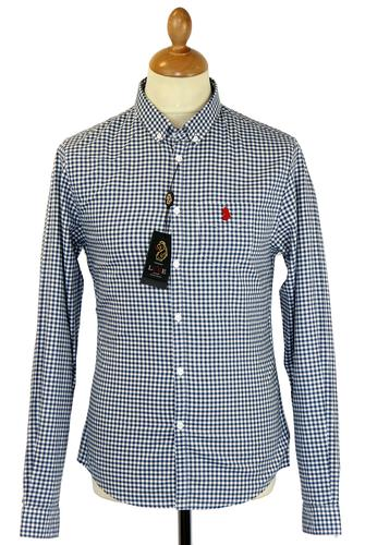 LUKE 1977 RETRO MOD GINGHAM SHIRT