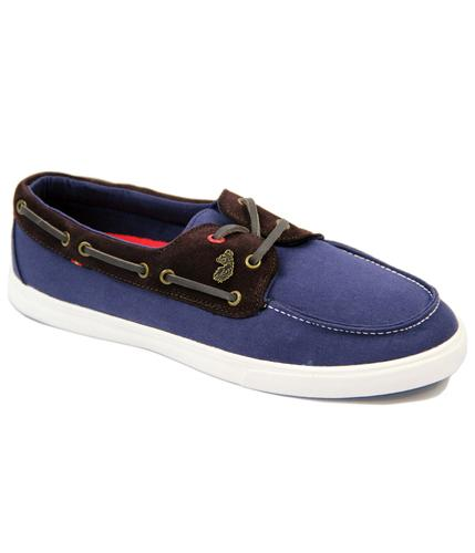 LUKE 1977 RETRO MOD BOAT DECK SHOES NAVY