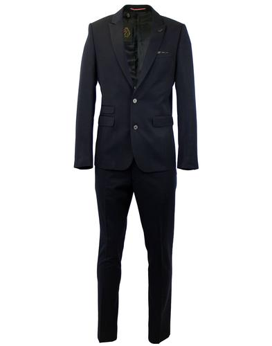 LUKE 1977 RETRO MOD SLIM SUIT NAVY