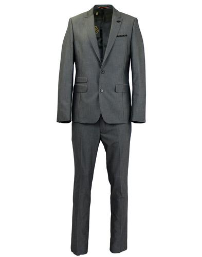 LUKE 1977 RETRO MOD SLIM SUIT SILVER