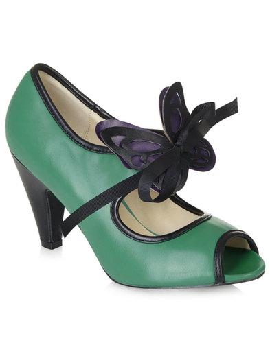 Lulu Hun Paola retro vintage peep toe high heels