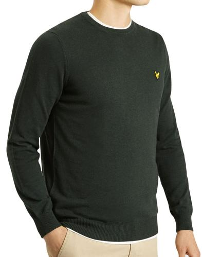 LYLE & SCOTT Mod Cotton Merino Knit Jumper FOREST