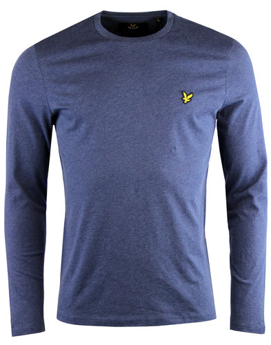 lyle and scott retro long sleeve crew t-shirt navy