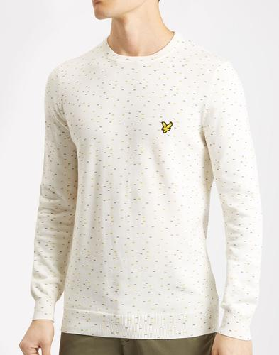 LYLE AND SCOTT Retro 60s Mod Fil Coupe Jumper (OW)