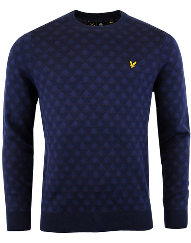 lyle and scott retro mod jacquard triangle jumper