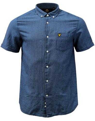 LYLE & SCOTT Mod Button Down Textured Linen Shirt