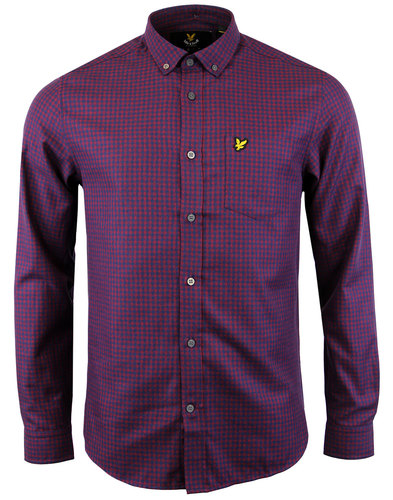 lyle and scott retro 60s mod mouline gingham shirt