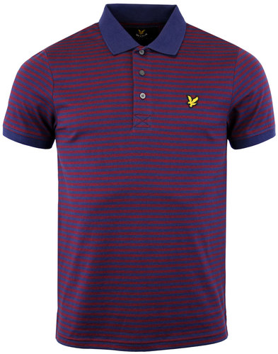 lyle and scott retro mod mouline stripe polo shirt