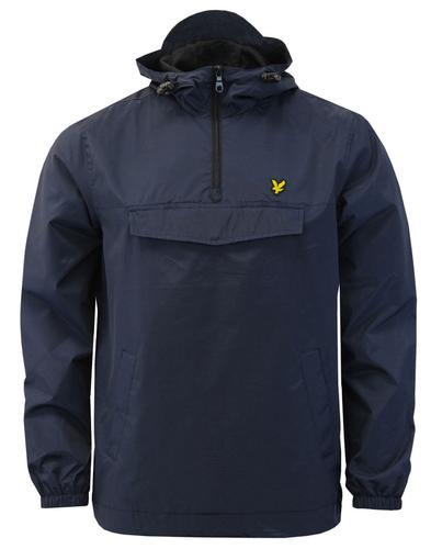 lyle and scott retro casuals overhead jacket navy