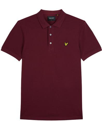 LYLE & SCOTT Classic Mod Pique Polo Shirt (Claret)