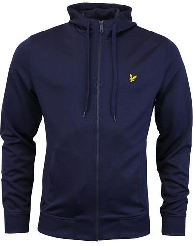 lyle & scott funnel neck zip sweater navy mod