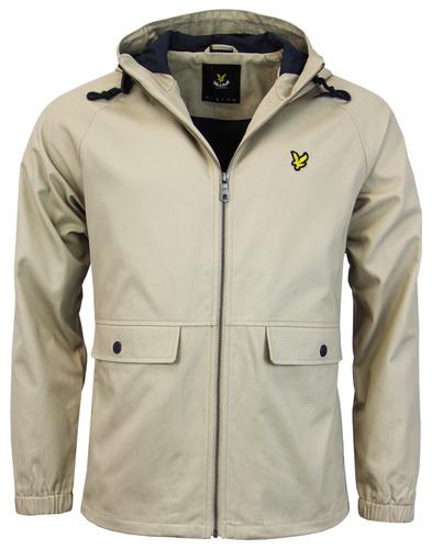 lyle & scott cotton zip through jacket stone mod