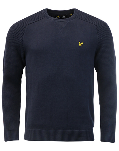 LYLE & SCOTT 60s Ribbed Crew Neck Jumper NAVY