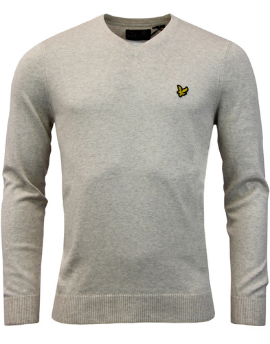 LYLE & SCOTT Mod Cotton Merino V-Neck Jumper OW