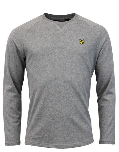 lyle & scott lightweight sweater grey mod