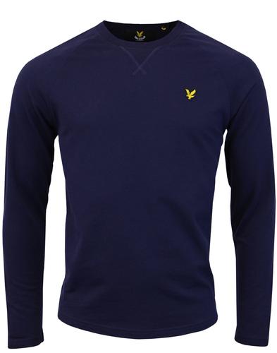 lyle & scott light weight sweater navy mod