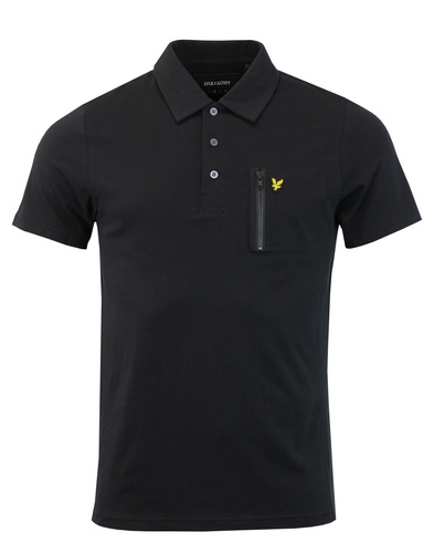 LYLE & SCOTT Retro Mod Zip Pocket Polo Shirt (TB)