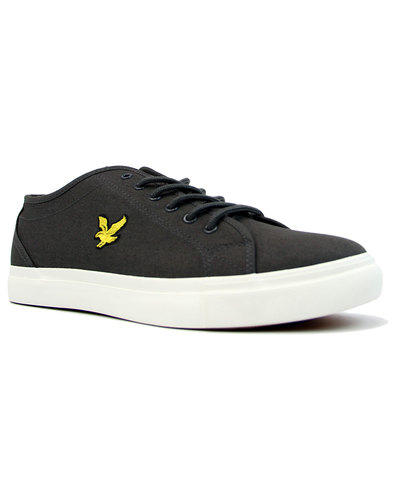 Teviot Twill LYLE & SCOTT 70s Tennis Trainers GREY