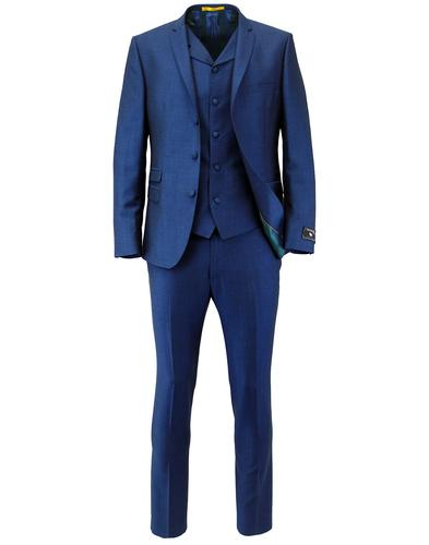 MADCAP ENLAND MOD RETRO SUIT BLUE MOHAIR