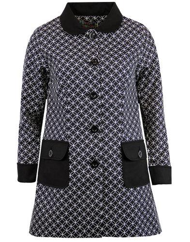 madcap england hepburn 60s circle mod a line coat