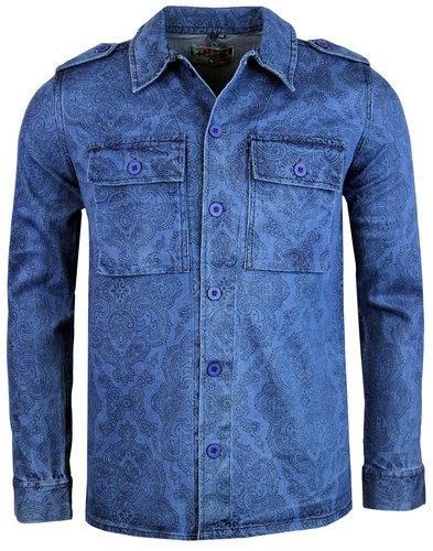 madcap england 60s mod denim paisley lennon jacket