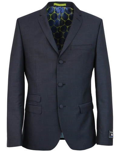 madcap england mohair 3 button suit jacket navy