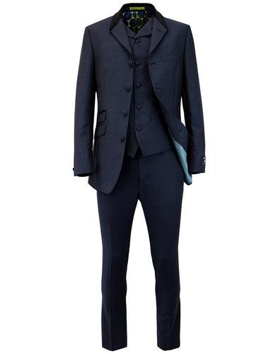 MADCAP ENGLAND Mod Mohair Fab 4 Button Navy Suit