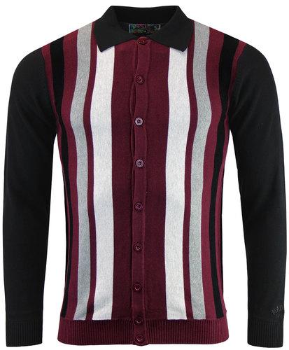 madcap england baltimore mod stripe polo cardigan
