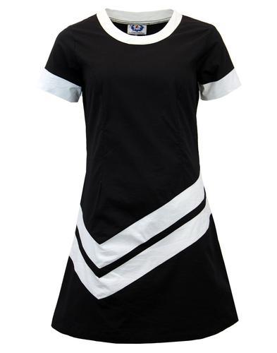 MADCAP ENGLAND RETRO MOD CHEVRON DRESS BLACK