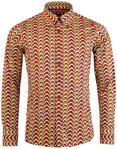 madcap england trip clouds retro 1970s mod shirt