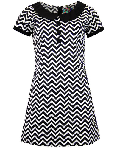 madcap england dollierocker zig zag 60s mod dress