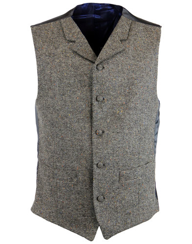 MADCAP ENGLAND Mod Donegal High Fasten Waistcoat