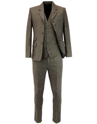 madcap england dylan brushed dogtooth 60s mod suit