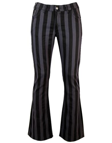 BEATLES GEORGE HARRISON STRIPED FLARES JEANS 60s