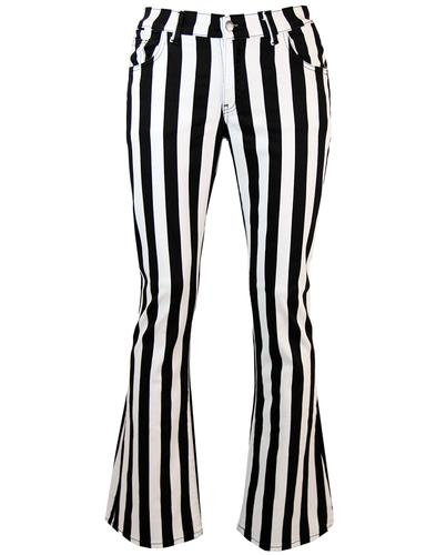Holy Roller - Retro 60s Striped 70s Indie Flares W