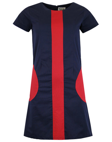 Honey MADCAP ENGLAND Mod Circle Pocket Dress NAVY