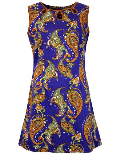 madcap england lazy daisy paisley 60s mod dress