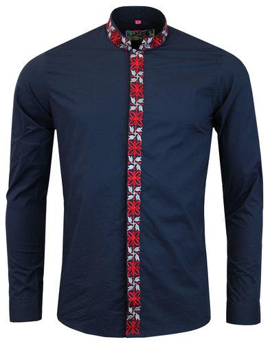 Avory MADCAP ENGLAND 60s Mandarin Collar Shirt (N)