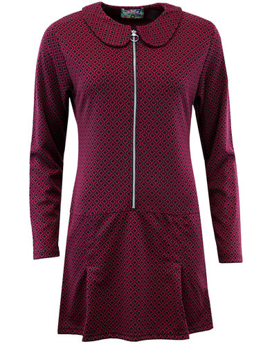 madcap england mayfair mod ring zip dress purple