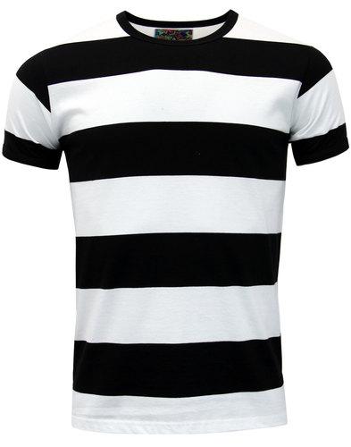 madcap england milne retro 60s mod stripe t-shirt