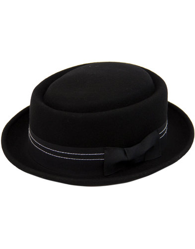 MADCAP ENGLAND Mod Revival Wool Felt Porkpie Hat